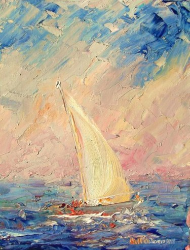 """Painting titled """"Yachts, The Homecom…"""" by Bill O'Brien, Original Art, Oil"""
