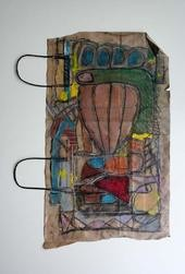 """Painting titled """"confession"""" by Blandine Martin, Original Art,"""