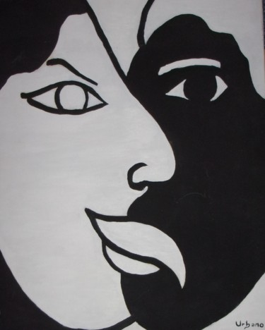 """Painting titled """"White and Black"""" by Roberto Urbano, Original Art, Oil"""