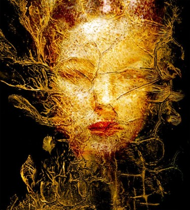 """Photography titled """"GOLDEN TREE"""" by Bojan Jevtic, Original Art, Manipulated Photography"""