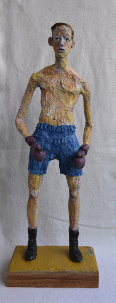 Sport Sculpture, paper, expressionism, artwork by Barake Sculptor