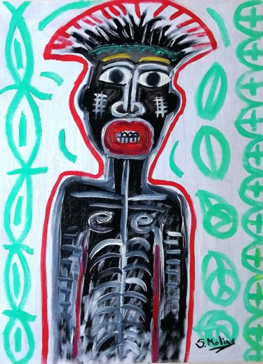 """Painting titled """"Tribal Congo."""" by Susana Moline, Original Art, Oil"""