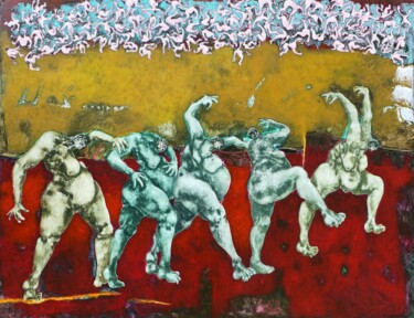 """Painting titled """"Homogène 219"""" by Jean Francois Bottollier, Original Art, Acrylic Mounted on Wood Panel"""