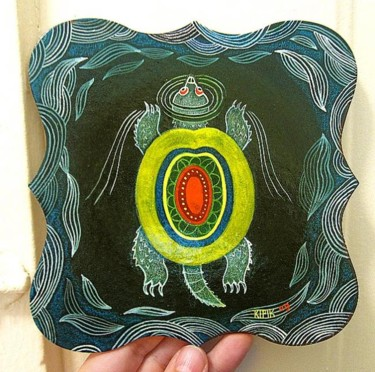 """Painting titled """"Sapping Turtle Mand…"""" by Kipik, Original Art, Oil"""