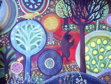 """Painting titled """"Enchanted Forest"""" by Kipik, Original Art,"""
