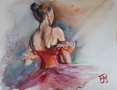 """Painting titled """"Before the yes"""" by Bozhidara Mircheva, Original Art, Watercolor"""
