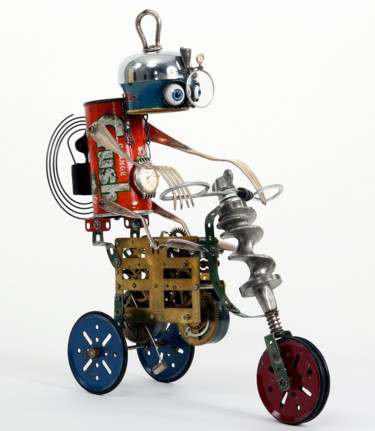 Robot Sculpture, metals, expressionism, artwork by Branimir Misic