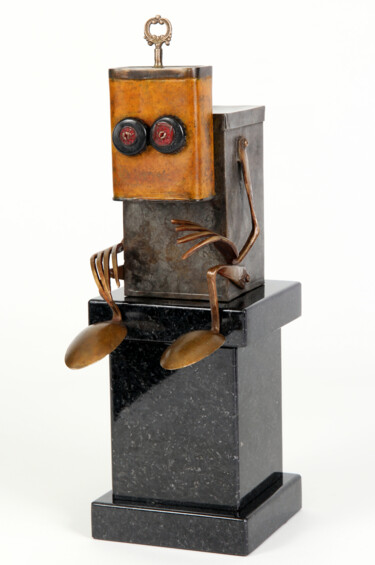 """Sculpture titled """"waiting for you"""" by Branimir Misic, Original Art, Bronze"""