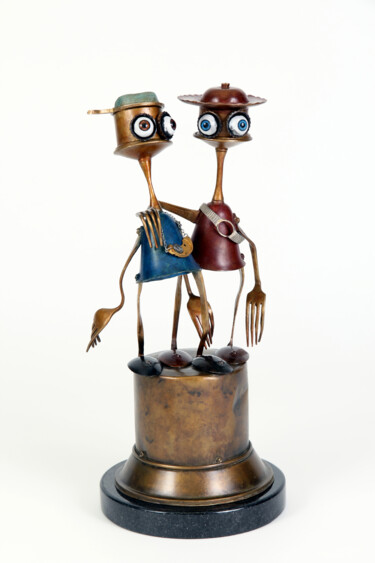 """Sculpture titled """"you and me"""" by Branimir Misic, Original Art, Bronze"""