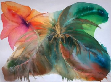 """Painting titled """"tropicale"""" by Bri.Z, Original Art, Ink"""