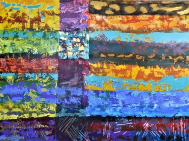 Architecture Painting, acrylic, abstract, artwork by Brian Lockett