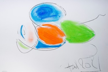 """Drawing titled """"2021"""" by Anih, Original Art, Pastel"""
