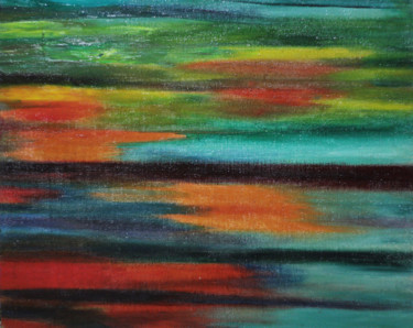 """Painting titled """"Last Ray of Light o…"""" by Sergei Smv, Original Art, Oil"""