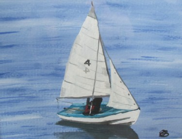 """Painting titled """"Sailboat 4"""" by Ann Biddlecombe, Original Art, Watercolor"""