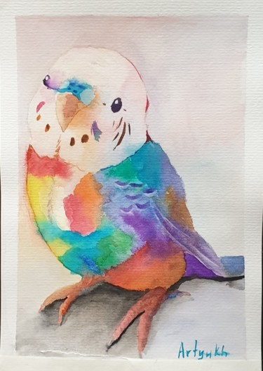 """Painting titled """"Parrot"""" by Artyukh, Original Art, Watercolor"""