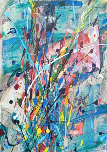 """Painting titled """"Abstract 06 """"Untitl…"""" by Bronwen Evans, Original Art, Acrylic"""