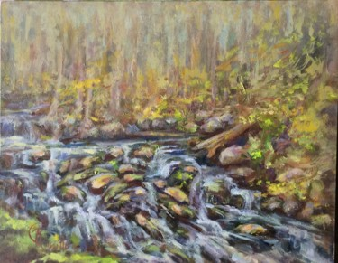 """Painting titled """"Babbling Brook"""" by B.Rossitto, Original Art, Oil"""