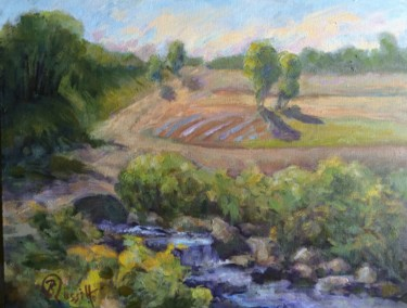 """Painting titled """"Growing Fields"""" by B.Rossitto, Original Art, Oil"""