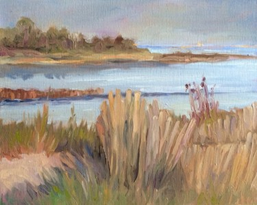 Beach Painting, oil, impressionism, artwork by B.Rossitto