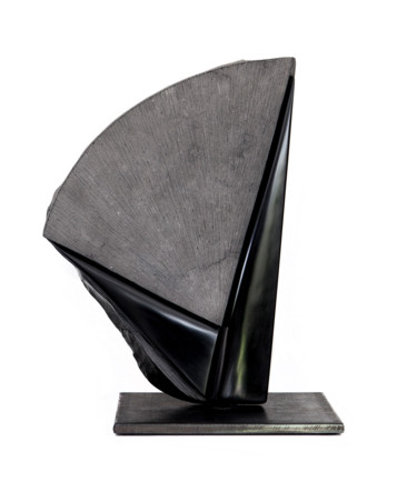 Geometric Sculpture, stone, abstract, artwork by Bruce Clicq