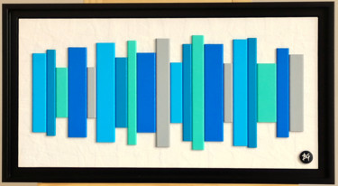 """Painting titled """"Vibrations 1"""" by Bruno Guévenoux, Original Art, Wood Mounted on Wood Panel"""