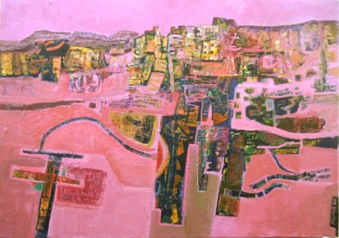 """Painting titled """"Pink landscape Augu…"""" by Christopher Foster, Original Art, Oil"""