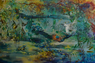 """Painting titled """"Drops"""" by Jorge Calero, Original Art, Acrylic"""