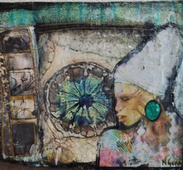 """Collages titled """"Projection"""" by Camille Ngoran, Original Art, Acrylic"""