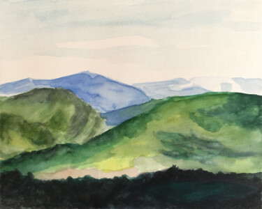 """Painting titled """"Montagnes"""" by Camille Rouschmeyer, Original Art, Watercolor"""