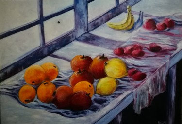 Painting, oil, artwork by África Gil