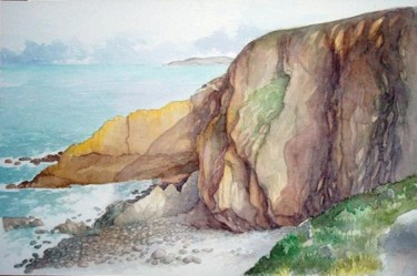 """Painting titled """"Baggy Point, Devon"""" by Carl Conway, Original Art, Oil"""