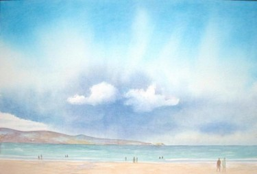 """Painting titled """"Rain over St. Ives"""" by Carl Conway, Original Art,"""