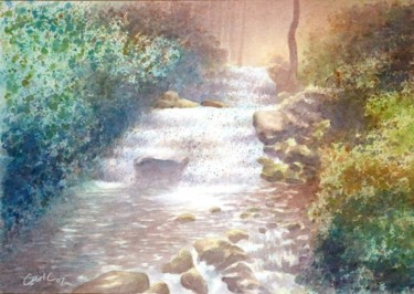 """Painting titled """"Waterfalls at Water…"""" by Carl Conway, Original Art, Oil"""