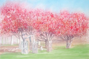 """Painting titled """"Spring time in Rich…"""" by Carl Conway, Original Art, Oil"""