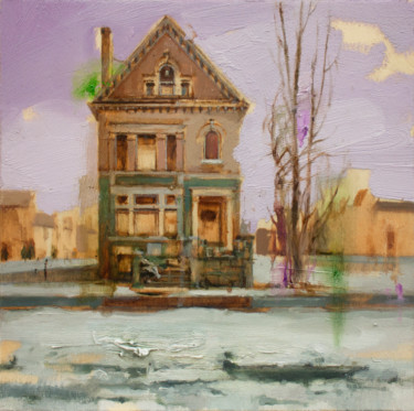 Architecture Painting, oil, figurative, artwork by Carlos Asensio