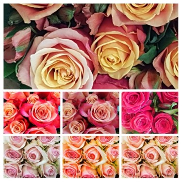 """Photography titled """"Roses (collage-0108…"""" by Carlos Vieira, Original Art, Non Manipulated Photography"""
