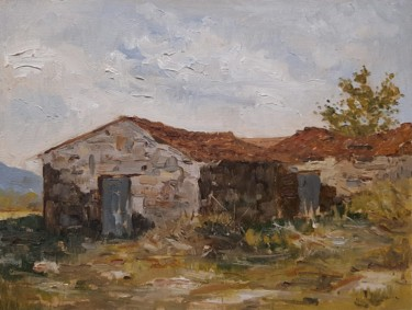 Countryside Painting, oil, impressionism, artwork by Carlos Ranna