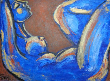 """Painting titled """"Nocturne 2 - Female…"""" by Carmen Tyrrell, Original Art, Acrylic"""