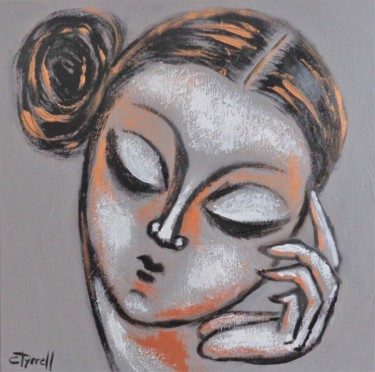 """Painting titled """"Thinking Muse - Por…"""" by Carmen Tyrrell, Original Art, Acrylic Mounted on Stretcher frame"""