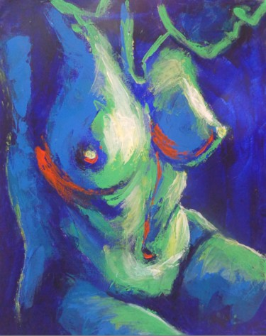 """Painting titled """"Midnight Lady B - F…"""" by Carmen Tyrrell, Original Art, Acrylic Mounted on Stretcher frame"""