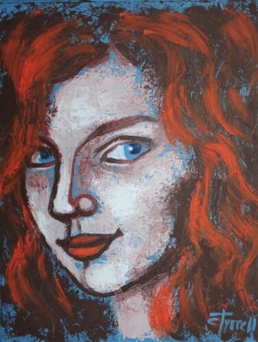 """Painting titled """"From Scotland With…"""" by Carmen Tyrrell, Original Art, Acrylic Mounted on Stretcher frame"""