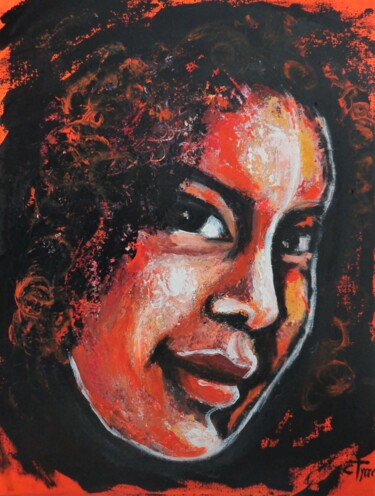 """Painting titled """"From Africa With Lo…"""" by Carmen Tyrrell, Original Art, Acrylic Mounted on Stretcher frame"""