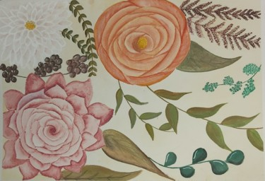 """Painting titled """"Autumn flowers 2"""" by Catarina Brito, Original Art, Watercolor"""