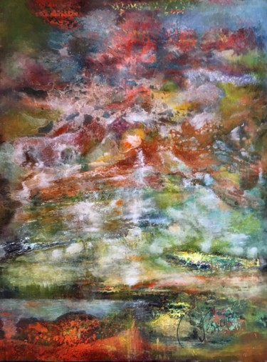Nature Painting, acrylic, expressionism, artwork by Catherine Lesueur (C.Lesueur)