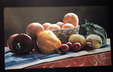 Still life Painting, gouache, artwork by Catherine Digue - Turpin