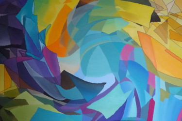 Color Painting, oil, conceptual art, artwork by Catherine Wernette
