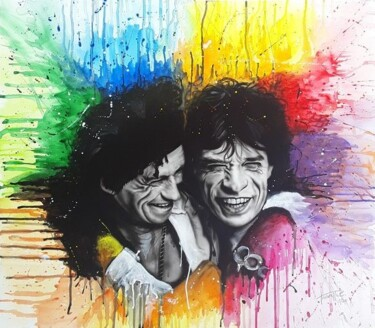 """Painting titled """"The Rolling Stones"""" by Catia Trovarelli, Original Art, Acrylic"""