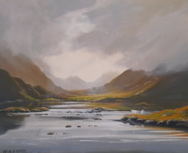 Landscape Painting, acrylic, land art, artwork by Cathal O Malley
