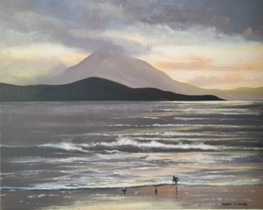 Landscape Painting, acrylic, classicism, artwork by Cathal O Malley