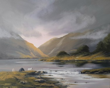 Landscape Painting, acrylic, hyperrealism, artwork by Cathal O Malley